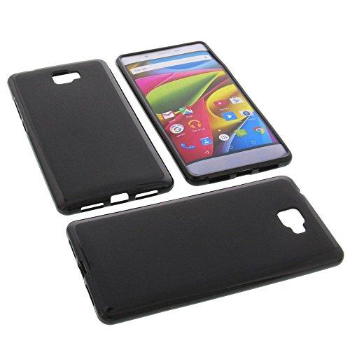 foto-kontor Tasche für Archos 55 Cobalt Plus Gummi TPU Schutz Hülle Handytasche schwarz