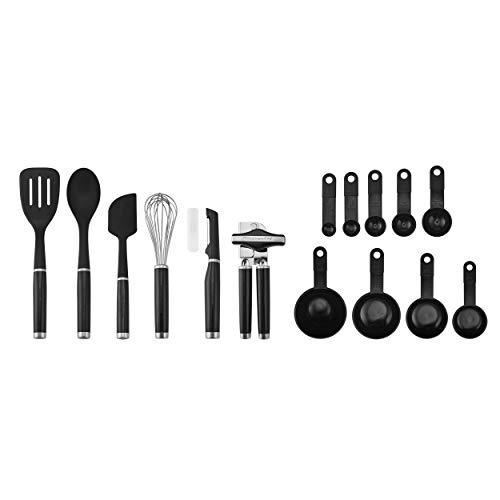 KitchenAid KE447BXOBA Classic Werkzeug und Gadget Set, 15-teilig, schwarz Kitchenaid Gadget