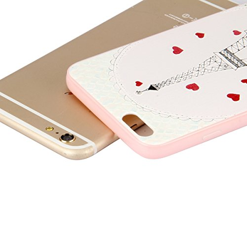 iPhone 6 plus Custodia,iPhone 6S plus Cover,Ukayfe Terrapin Cover di Gomma Rigida per iPhone 6/6S plus, Custodia Back cover, Personalizzata Dipinto Pattern Bumper Cover estremamente sottile pelle anti Torre rossa