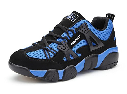 Men's Zapatillas Hombre Non Slip Breathable Outdoor Running Shoes blue