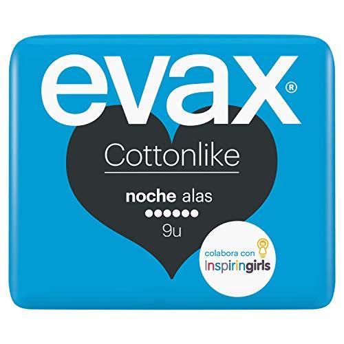 Evax Cottonlike Noche Compresas Alas - 9 Unidades