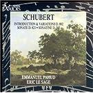 Schubert: Introduction & Variations D.802, Sonate D.821, Sonatine D.385