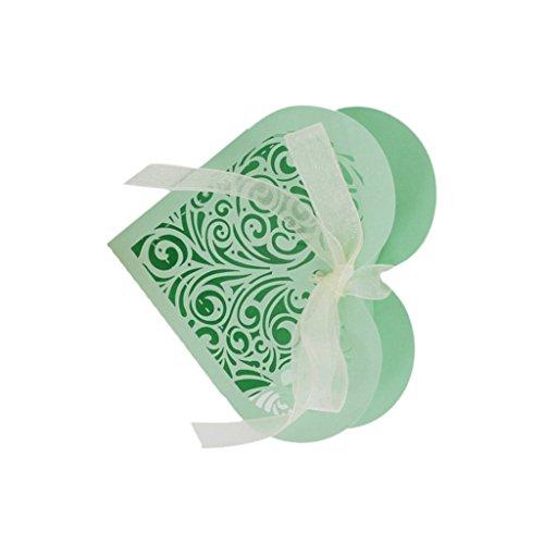Blesiya 20pcs Herz Form Geschenkbox Geschenkkartons Geschenkverpackung