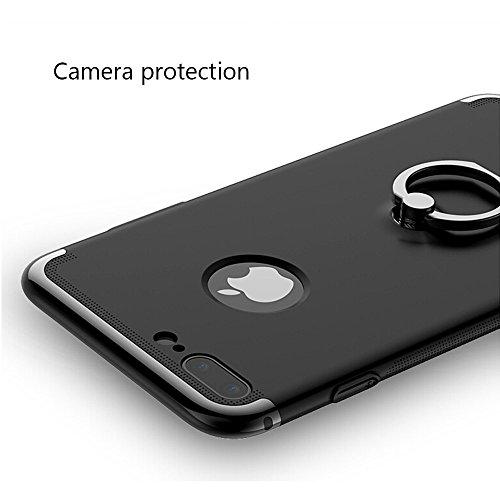 GR AIQAA Für iPhone 7 Plus PC Drei - Absatz Spleißen Design Schutzhülle mit Ringhalter ( Color : Gold ) Red