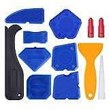 STOBOK 12 pezzi strumento di calafataggio silicone sigillante strumento di finitura boiacca raschietto boulk remover e caulk ugello (blu)