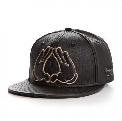 Cayler And Sons - Casquette Strapback Homme Flatbush Cap - Black Snake/Black/Gold