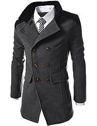 Qmber Herren jacken Kapuzenjacke Sweatjacke Parka Pullover Sweatshirt Hoodies Outdoor Coat Strickjacke Täglichen Mäntel Outwear Herbst Winter Tops, Warmer Trench Knopf Smart