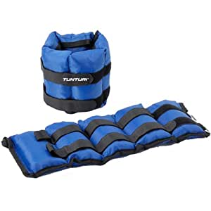 tunturi poids variables poignet cheville bleu 2 25 kg sports et loisirs. Black Bedroom Furniture Sets. Home Design Ideas