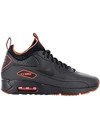 best sneakers 87cc9 f934e NIKE Herren Air Max 90 Ultra Mid Winter SE Schwarz Leder Synthetik Sneaker  40.5