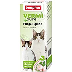 Beaphar - VERMIpure, solution liquide hygiène digestive - chat - 50 ml