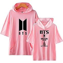 KPOP BTS Printed Hoodie Camisetas Los Hombres y Las Mujeres Blusas de Manga Corta de Verano Suga Jungkook Rap Monster V J-Hope JIN Jimin