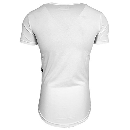 HERREN T-Shirts Druck Größe S M L M XL XXL kurzarm Text RN15100 Weiß