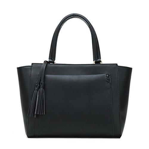 Herbst-Influx Der Art Und Weise Neue Handtaschen-große Beutel-einfacher Schulter-Beutel-Kurier-Handtaschen-Shell Black