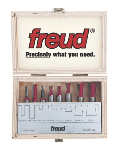 Freud 96-102 8-Piece Dovetail Incra Jig Router Bit Set with 1/2-Inch Shanks by Freud -