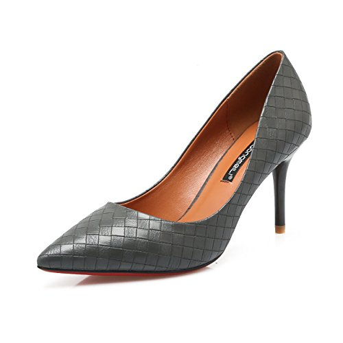 Welldone2017 - Scarpe col tacco punta chiusa Donna Grau