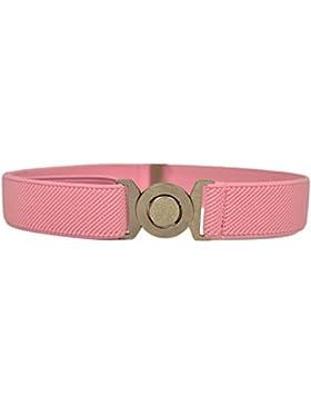 Cinturón Elástico para los Niños 1-6 Años, Ronda Hebilla Diseño
