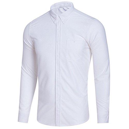 OSYARD Herren Casual Bluse mit Knopfleiste, Männer Langarm Plus Size Solide Umlegekragen Shirt Heißer Original Hemden Mehrere Farben zur Auswahl M-XXXXXL