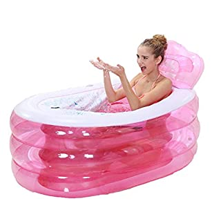 MBJZ Inflatable bath adult thick folding bath tub and a shower and bath tub and children filling the bath tub, pink,130*75*65cm