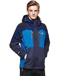 HHORD Soft Shell veste de Ski et vers le bas veste veste de deux pièces hiver Outdoorwear alpinisme amovible 3-en-1