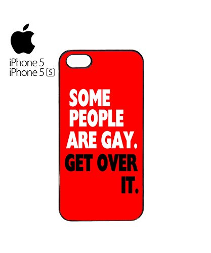 Some People Are Gay Get Over It Mobile Phone Case Back Cover Coque Housse Etui Noir Blanc pour for iPhone 6 Plus Black Blanc