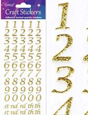 65 24/x 9.3/x 0.1/cm Materiale Sintetico Gold No Oaktree Crafts Eleganza Bold Alfabeto Set