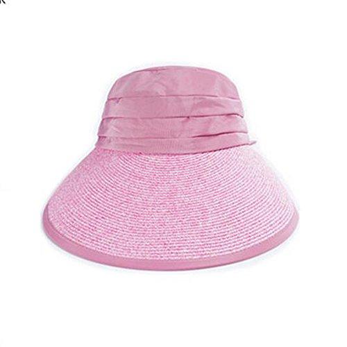 qz Chapeau de Soleil Bague large pliante Sun Sun ( Couleur : Beige ) Cherry blossom