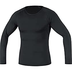 GORE RUNNING WEAR Cálida camiseta interior térmica de hombre, Manga larga, Elástica, GORE Selected Fabrics, ESSENTIAL Thermo Shirt long, Talla XXL, Negro, UETSLM990007