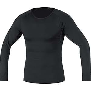 GORE BIKE WEAR, Homme, Sous-vêtement, maillot à manches longues, GORE Selected Fabrics, BASE LAYER long, Taille S, Noir, USLMEN990003