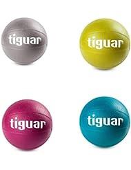tiguar Medizinball 1 kg, 2kg, 3kg, 4kg, Einzeln oder als Medizinball Set, ohne Griff, Fitball, Fit Ball, Gymnastikball, Gewichtsball aus Kunststoff
