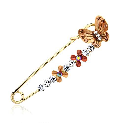 Kafigc8 fashion fashion rhinestone drop oil spilla pin suit sciarpe breastpins gioielli per ragazza ai084-b