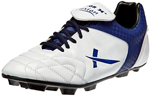Vector X Fusion Football Shoes, UK 9 (White/Blue)