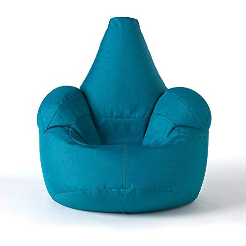 ICON Großer Armsessel Sitzsack- Großer Luxussitzsack Blaugrün