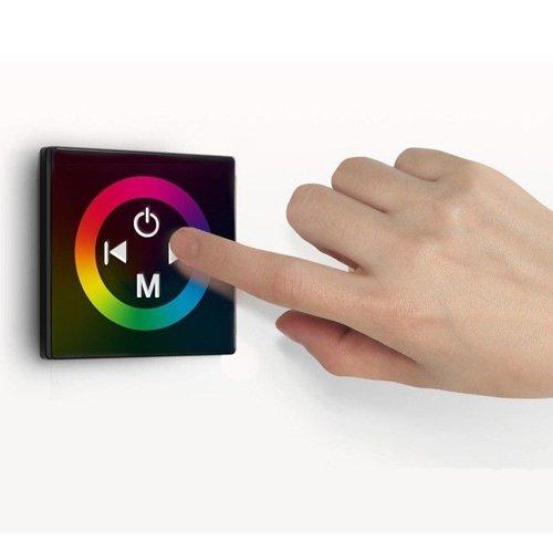 Morelight UK 12 V 12 A pared Panel táctil con regulador de intensidad de control para controlador de motor LED RGB tira de Londres acción ligera y Flexible