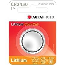 Agfaphoto Batería De Litio Cr2450 De Tipo Botón, 3V Menor De La Ampolla (1-Pack)