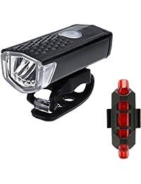 Fahrradlicht Set,Nourich wiederaufladbare Warnung StVZO Zugelassen Wasserdicht Sicheres Frontlicht Radfahren Fahrradbeleuchtung,Fahrradlampe,Fahrradlichter Camping Wandern (schwarz)