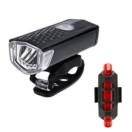 kashyk Fahrradlicht LED,Fahrradbeleuchtung LED Set,Wiederaufladbar USB Aufladbare Fahrradlampe mit 3 Licht-Modi,Fahrradlampe Beleuchtung Frontlicht/Rücklicht für Fahrrad, Mountainbike, Rennrad