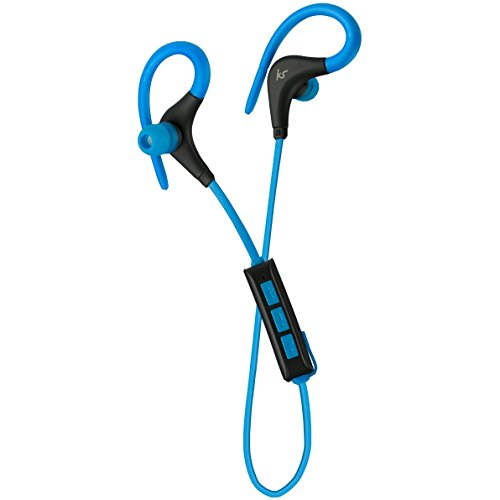 KitSound Race Wireless Sports Earphones 5hrs Blue