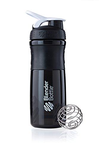 BlenderBottle Sportmixer Tritan Shaker | Protein Shaker | Wasserflasche | Diät shaker (820ml) - schwarz-weiß (Blender-ball-sport-mixer)