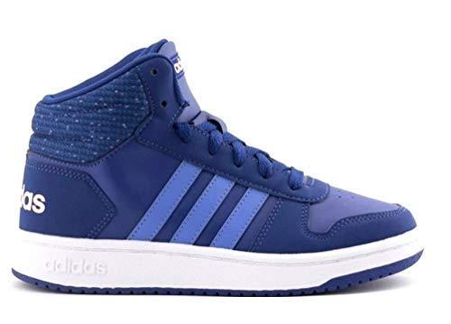 adidas Hoops Mid 2.0, Scarpe da Basket Unisex-Bambini, Blu Mysink/Realil/Cleora, 38 2/3 EU