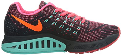 Nike Air Zoom Structure 18 Damen Laufschuhe Mehrfarbig (Hyper Punch/Hyper Turquiose/Black/Total Orange)