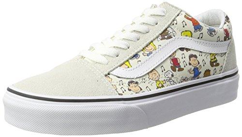 Vans Unisex-Erwachsene Peanuts Old Skool Sneaker, Mehrfarbig (Peanuts/ Multi/True White), 40 EU