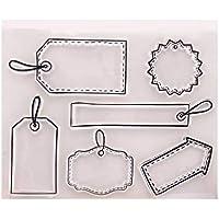 Wanfor Etiqueta Sello Claro Transparente Silicona Cling Sello DIY Álbum Scrapbooking repujado Photo Card Decor Craft, Niños Regalo