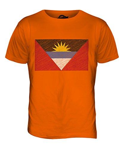 CandyMix Anguilla Kritzelte Flagge Herren T Shirt Orange