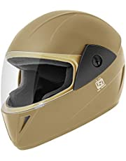 Gliders. Jazz Full Face ABS Shell Helmet (Black with Tinted