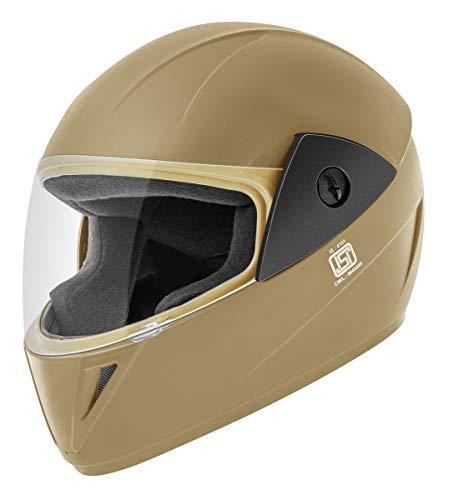 Gliders. Jazz Full Face Helmet (Khaki, Clear Visor, 580 mm)