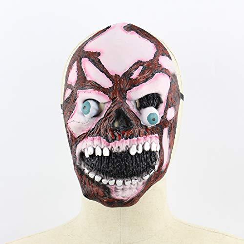 Halloween Latex Maske Beängstigend Explosiver Augapfel Zombie Schädel 3D Neuheit Gruselig Teufel Kostüm Partei Cosplay Requisiten Rollenspiel Spielzeug