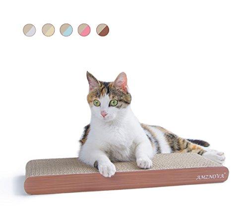 AMZNOVA Recycelbar Kratzpad, Kratzbrett für Katzen, Wellpappe Kratzmatten Kratzlounge Kratzspielzeug mit Katzenminze
