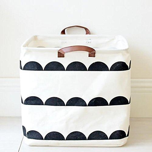 wanshop® Faltbare Bad Schmutzige Kleidung Laundry Storage Wäschekorb Eimer Tasche behindern Waschtücher Aufbewahrung C (Schmutzige Wäsche Behindern)