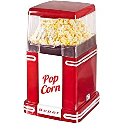 Pop Corn Retro Máquina para hacer palomitas, 630 W, Blanco y rojo.