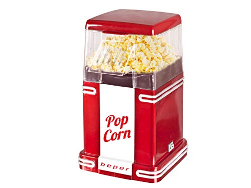 BEPER 90.590Y Machine à pop corn 1200W, 1200 W, Rouge